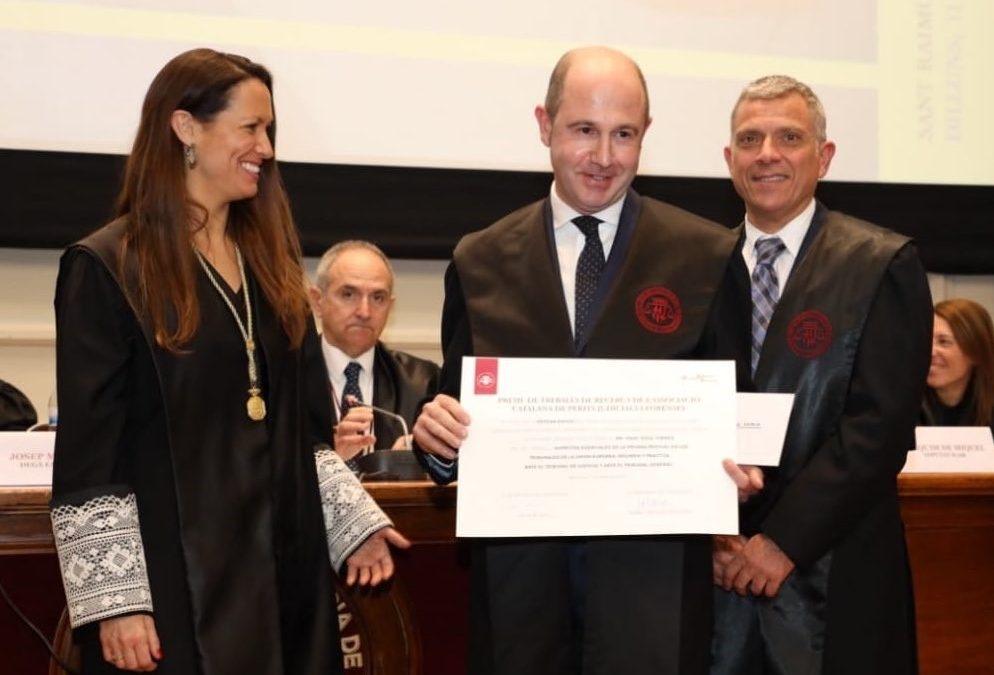 Isaac Soca és  guardonat per l'Associació Catalana de Pèrits Judicials i Forenses al millor treball de recerca sobre la figura del perit i la prova pericial